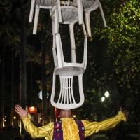 Intervenções circenses, artistas variados