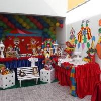 Decoração Tradicional do circo estilo Clean