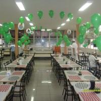 decoração com balões inflados com gas HÉLIO de procedência fornecido pela linde gases ltda.