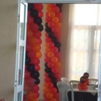 Colunas com balões