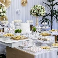 Festa Completa - Decoração, buffet, bolo, doces, flores - Batizado
