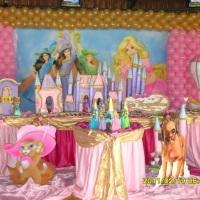 lindas mesas temáticas barbie
