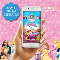 Convite para festa infantil com diversos temas personalizados