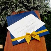 Convite de Casamento Avório
