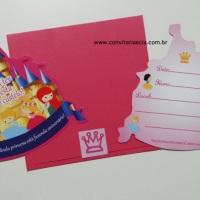 Convite Castelo - Festa Princesas