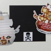 Convite Navio Pirata - Festa Piratas