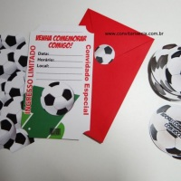 Convites Ingresso - Festa Futebol