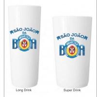 Super drink e Copo long Drink personalizado colorido ficam prontas 48h Brasilia DF - gráfica public
