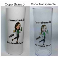 Copo long Drink personalizado colorido ficam prontas 48h Brasilia DF - gráfica publicart