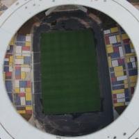 Foto aérea do Estádio Kléber Andrade, localizado em Cariacica.