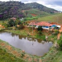 Foto aérea da propriedade rural de um cliente em Domingos Martins.