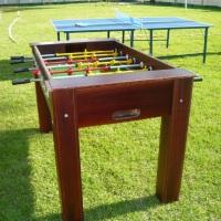 Mesas de totó e ping pong oficiais