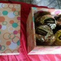 Kit presente - Caixa mdf forrada com tecido com bombons