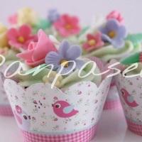 Cupcakes Tema Jardim