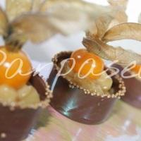Caixeta de chocolate com brigadeiro gourmet de Phisallys