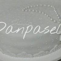 Bolo decoração em pasta americana tema Batizado