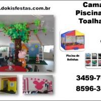 Decoração com balões e aluguel de brinquedos