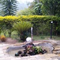 Chafariz no jardim