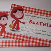 Convite Tema Chapeuzinho Vermelho