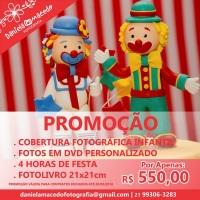 - Cobertura Fotográfica para festa infantil - Fotos no DVD personalizado - 4 horas de festa - Fot