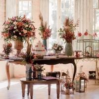 Decoração de casamento/ mesa de casamento de dia