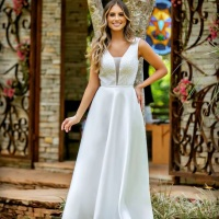 Vestido de noiva casamento civil