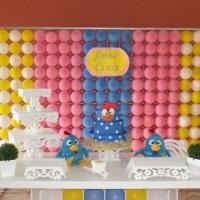 """Decoração Clean Galinha pintadinha """"Painel de balões"""""""