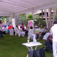 Reflexologia podal em evento da Assoc. Serv. do Tribunal de Contas do Est. do Rio de Janeiro.