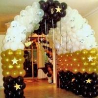 tunel entrada de festa de 15 anos