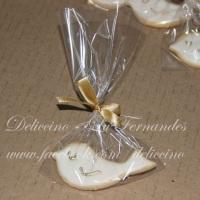 Biscoito decorado para batizado (pombinha)
