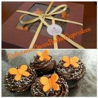 Cupcakes em embalagem para presentear.