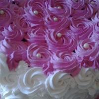 Bolo Rosas Chantilly