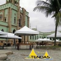 Diversos tamanhos de tendas sanfonadas em evento na Ilha Fiscal. Acesse nosso site para mais fotos.