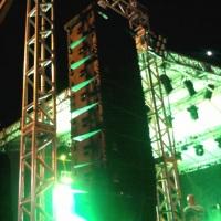 sistema Line Array altas para eventos de sonorização grande porte
