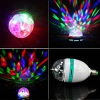 Luz colorida de efeito - Lampada Giratória Colorida Com Led