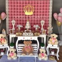 Decoração Chá de bebe ursa princesa