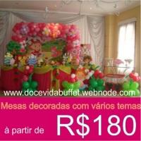 Promoção de mesas decoradas