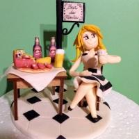 Topo de bolo boteco,fazemos todos os temas.Esse foi feito em biscuit.