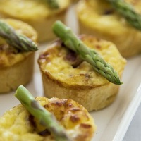 Mini Quiches de Aspargos.