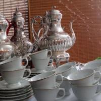 Mesa de Chá e Café.