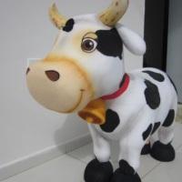 vaca - isopor com pluminha