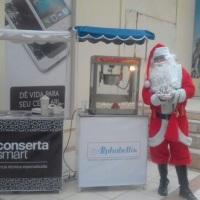 Barraquinha Personalizadas  para ação  de marketing empresarial com Papai Noel