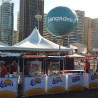 Barraquinha personalizada  para camarote com logo marca do patrocinador