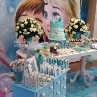 festa de frozen , decoração frozen