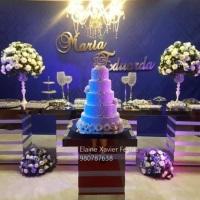 decoração 15 anos azul royal, festa 15 anos azul royal