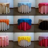 toalhas de mesas Quadrada e redonda, diversas cores . (Consulte disponibilidade de cores)