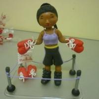 boxeadora topo de bolo