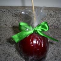 maçã do amor tradicional c/ laço