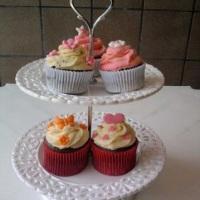 Cupcakes de doce de leite com cobertura de buttercream