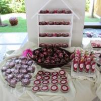 Mesa De Chocolates Oncinha Pink